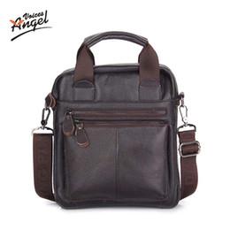 Wholesale Genuine Leather Cross Shoulder Bags - Wholesale- Genuine Leather Men Bags Business LaptopTote Bag Briefcase Men Leather Cross body Handbag Shoulder Messenger Men'sTravel Bags