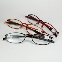 Wholesale People Reading - 2018 New Good Quality Slim Frame Presbyopia Reading Glasses Springy Plastic Material And Antiskid Legs Eyewear For Older People