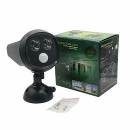 Wholesale Wall Night Light Motion Sensor - LED Solar Powered PIR Motion Sensor Lights 2LED Super Bright IP65 Waterproof Oudoor Solar Wall Lamp LED Night Light
