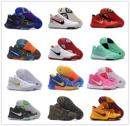 Wholesale Arrival Train - 2016 New Arrival Kyrie Irving 3 Signature Game Basketball Shoes for Top quality Men's Sports Training Sneakers Size 40-46 Free Shipping
