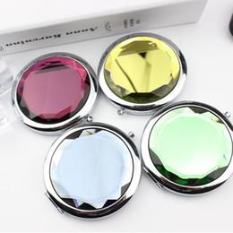 28e6a92a2 espelho de maquiagem personalizado Desconto Espelho De Bolso De Metal  portátil Maquiagem Dobre Rodada Espelho De