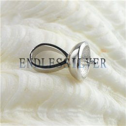 Wholesale European Bail Beads - Pendants Bead Caps Pearl Bail 925 Sterling Silver Charm DIY Jewellery Finding Mountings for Pearl Party