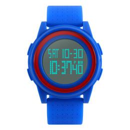 relojes de hombre con dial simple Rebajas SKMEI Men Women LED Relojes Digitales Relogio Masculino Feminino Impermeable Deporte Thin Fashion Simple Dial Mens Watch 1206