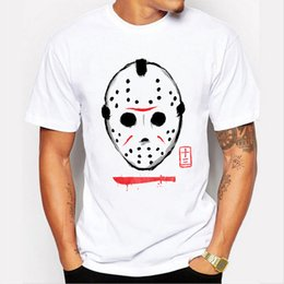 Wholesale T Short Printing Machine - Print T Shirt Summer Style Fashion Short Sleeve Printing Machine Crew Neck Delirious Scary Mask T Shirts