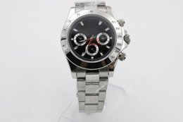 Wholesale Cosmic Black - Classic TONA116507 cosmic timing series silver stainless steel black dial sapphire glass men's luxury sports automatic mechanical watch