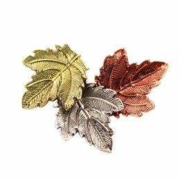 Wholesale jewelry pins for sale - Wholesale- New Arrival Hot Sale Fashion Women Lady Brooch Personality Maple Leaf Cloth Pin Jewelry Brooches Gift for Girl Three Color XS259