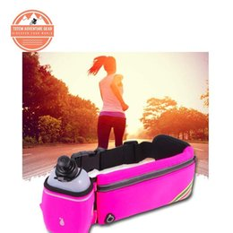 Wholesale Golf Bags Free Shipping - Anti-theft Running Waist bags with One water Kettle Free Shipping Unisex Tactical Outdoor Sports Pouch with Water Bottle