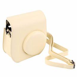 Wholesale Fuji Instax Mini Camera - Leather Camera Strap Bag Case Cover Pouch Protector For Polaroid Photo Camera For Fuji Fujifilm Instax Mini 8