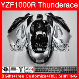 Wholesale Yzf Thunderace - Body For YAMAHA Thunderace Silver black YZF1000R 96 97 98 99 00 01 07 84HM8 YZF-1000R YZF 1000R 1996 1997 1998 1999 2000 2001 2007 Fairing