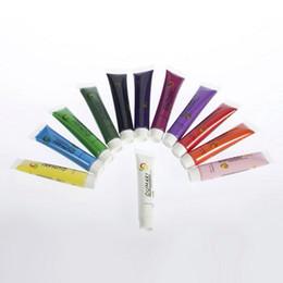 Wholesale Uv Gel Acrylic Design 3d - Wholesale-1set Acrylic UV Gel Design 3D Paint Tube Nail Art Pen 12 Colors Nail Polish False tips Drawing