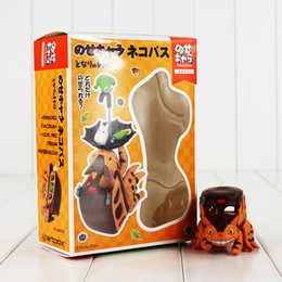 Wholesale Totoro Action Figures - My Neighbor Totoro Toys The Kitten Bus Action Figure Collectable Model for Kids Gift Free Shipping Retail