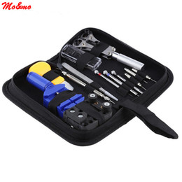 Wholesale Watch Link Screwdriver - Wholesale- New Watch Repair Tool Kit Sets Watch Case Opener Link Spring Bar Remover Screwdriver Tweezers 13pcs set With Bag