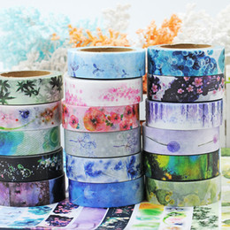 Wholesale Free Scrapbooking Stickers - Wholesale- 2016 1.5cm Width Classical Chinese Ink Painting Washi Tape Adhesive Tape DIY Scrapbooking Sticker Label Masking Tape free shipp