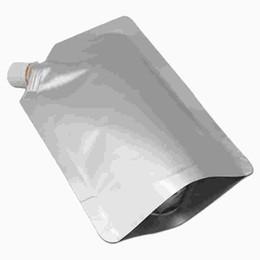 Wholesale Spout Pouch Wholesale - 20pcs  Lot Mylar Doypack Drinking Liquid Storage Package Pouches For Milk Juice Beverage Pure Aluminum Foil Stand Up Spout Bag