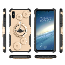 Wholesale Galaxy Note Gear - For Iphone X 8 7 6S Plus Samsung Galaxy Note 8 S8 Plus Gear Armor Kickstand Heavy Duty Shockproof Cell Phone Cases Covers