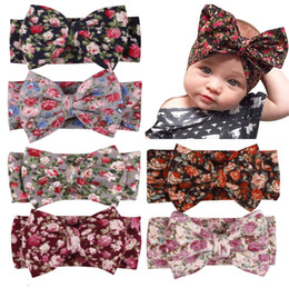 Wholesale knitting accessories wholesale - Headbands Bow hairs Vintge Hair Head Band Baby girl sweet Elastic knit cotton baby hair accessories Wholesale cheap 2017