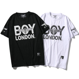 Wholesale Diamond T Shirts - London boy T shirt Diamond eagle short sleeve gown Cool tees Street printing clothing Unisex cotton Tshirt