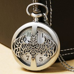 Wholesale Chain Watches For Men - Cool Batman Quartz Pocket Watch With Necklace Chain For Man Boys Children Gift