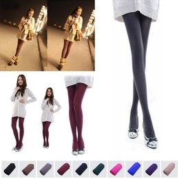 Wholesale Girls Matching Tight - 1 Pair Beauty 10Colors Opaque Footed Tights Sexy Pantyhose Leg Warmers for Women Lady Girl all-match elastic tights