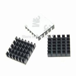 Wholesale Led Aluminum Heatsink - Wholesale- 10pcs lot Aluminum Heat sinks Cooling Heatsink IC Led Cooler 20x20x6mm