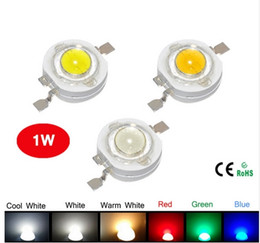 Wholesale 1w High Power Led - High Power LED Chipset Epistar 45mil LED Lamp 5 Colors R G B CW WW 3 to 4V 1W 350mA 120lm