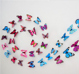Wholesale Wholesale Religious Art - Brand New 12PCS 3D PVC Magnetic DIY Butterfly Wall Decoration Sticker Home Room With Double Side Glue Fridge Magnet