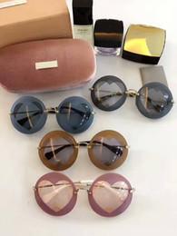 Wholesale premium heart - 2017 Unique Design SMU 01S Premium Luxury Fashionable women multicolour models type Heart-shaped sunglasses free delivery