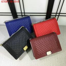 Wholesale Mummy Bag Fashion - New Fashion Women Mummy Bag Boy Bag Caviar Handbags Designer Shoulder Bag 67087
