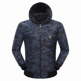 Wholesale Skull Print Hoodie - 2017 Hot Sell Autumn Men's Jacket Length Sleeve Hoodies Sweatshirts Skull Print QP Tiger Mens Zipper Hooded Outwear 9042