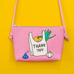 Wholesale Transparent Bag Material - Wholesale- YOUYOU MOUSE Character Pattern Coin Purse PU Material Zipper Purse Transparent Touch-Screen Mobile Phone Bags Casual Wallet Girl