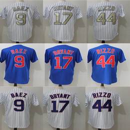 Wholesale Blue Anthony - 2017 Men Chicago Jersey 17 Kris Bryant 44 Anthony Rizzo 9 Javier Baez Stitched Authentic Baseball Jersey Flexbase Cool Base jerseys