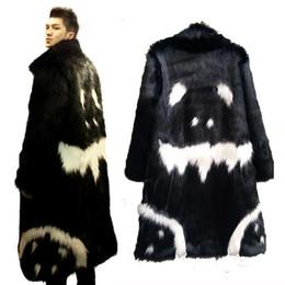 Wholesale Mens Leather Parka Coats - Wholesale- Mens Real Fur Coat Winter Faux Fur Outwear Windbreaker Both Side Coat Men Punk Parka Jackets Leather Overcoats Brand Genuine Fur