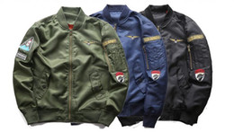 Wholesale Air Collars - 2018 Men Bomber Jacket Pilot Coats Outwear Air Force One Flying Clothes Plus Size 4xl 5xl 6xl Long Sleeve Spring Autumn Clothing