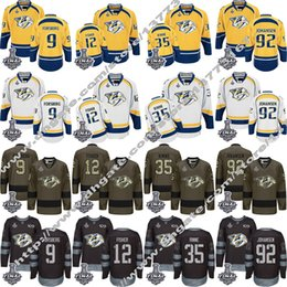 Wholesale Womens Xxl - 2017 Stanley Cup patch Nashville Predators Mens Womens Youth 9 Filip Forsberg 12 Mike Fisher 92 Ryan Johansen 35 Pekka Rinne Jerseys