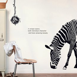 Wholesale Large Zebra Wall Stickers - Creative wall stickers furniture bedroom room wall paper self - paste Zebra wall decorative paper high - quality