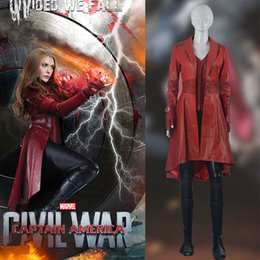 Wholesale Captain Games - Captain America 3 Scarlet Witch cosplay halloween costumes