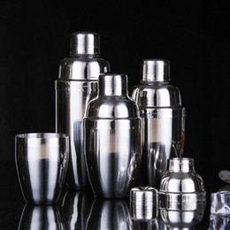 Wholesale Wholesale Cocktail Mixers - 2017 Stainless Steel Boston Shaker Cocktail Shaker Cocktail Mixer Wine Martini Drinking Boston Style Shaker For Party Bar Tool XL-G98