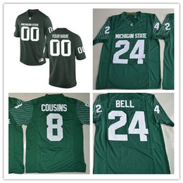 Wholesale Custom Michigan State Spartans College Football Jersey Mens Limited green Personalized Stitched Any Name Any Number Jerseys S XL