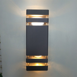 Wholesale Wholesale Porch Lights - 4 pieces outdoor wall lamp light up and down porch bracket light waterproof with 2 dual head light up and down wall lamp