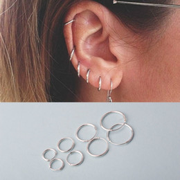 Wholesale Earing Pair - 1 pair of earrings Fashion 925 Sterling Silver Ear Ring Earrings Earring Earing and Anti Allergy