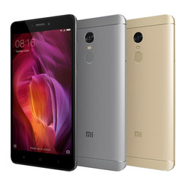 Wholesale Note Smartphone 4g - Global Version Xiaomi Redmi Note 4 Octa Core 3GB 32GB Smartphone Snapdragon 625 Octa Core 13MP Fingerprint phone 4g lte phone