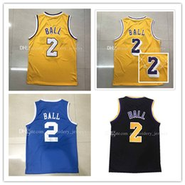 Wholesale Embroidery Basketball Jersey - New 2017-2018 Mens 2# Lonzo Ball jersey cheap Ball basketball jerseys 100% Stitched Embroidery Logos wholesale Free Shipping