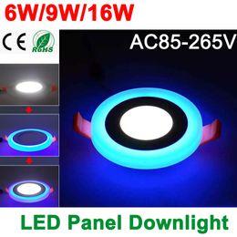 Wholesale Design Led Panel Light - Wholesale- New Design LED Panel Downlight 6W 9W 16W 3 Model LED Panel Light AC85-265V Recessed Ceiling Lamp Aluminum Acrylic Painel Lights