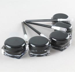 Wholesale Color Eyeliner Gel - Cosmetic Waterproof Eye Liner Pencil Make Up black Liquid Eyeliner Shadow Gel Makeup + Black Brush Maquiagem