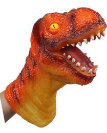 Wholesale Dinosaurs Puppets - Wholesale- 6 large animal hand puppet animal heads vinyl doll simulation dinosaur