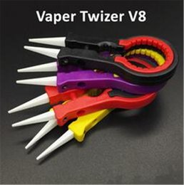 Wholesale V8 Tools - Vaper Twizer V8 E Cig accessories Vapor Tweezer DIY Tool Ceramic for rda rba Electronic Cigarettes