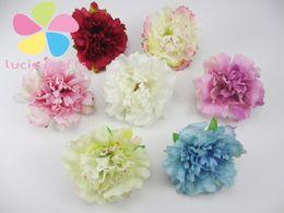 corredi delle corone Sconti Wholesale- 12pcs / lot circa 5,5 cm testa di fiore artificiale handmade decorazione della casa fai da te forniture per feste evento corone 027017041