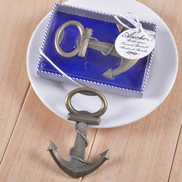 Wholesale Vintage Antique Bottles - Free shipping Vintage Antique Style Nautical Ships Boat Anchor Beer Bottle Opener Wedding Favors Gifts WA2028