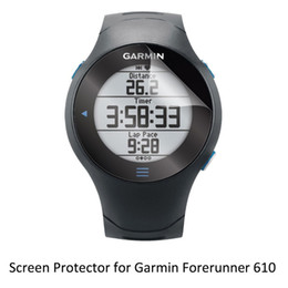 Wholesale Forerunner Garmin - Wholesale- 3* Clear LCD PET Film Anti-Scratch   Anti-Bubble   Touch Responsive Screen Protector Cover for Garmin Forerunner 610 FR610