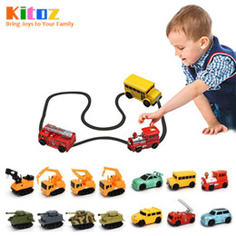 Wholesale Car Following - Kitoz Magic Pen Inductive Car Truck Tank Follow Any Drawn Black Line Track Mini Toy Engineering Vehicles Educational Toy for kids